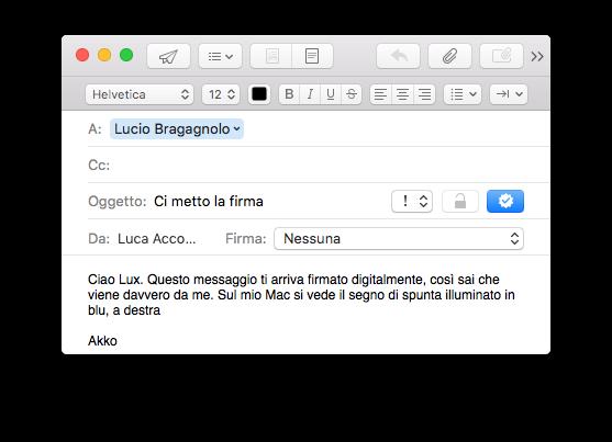 Abilitare la firma digitale in un moderno programma email è questione di un sol clic.