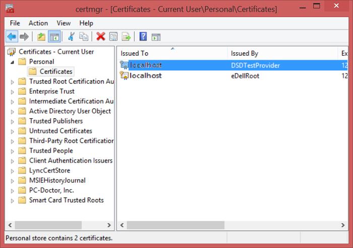 Certificati compromessi di Dell