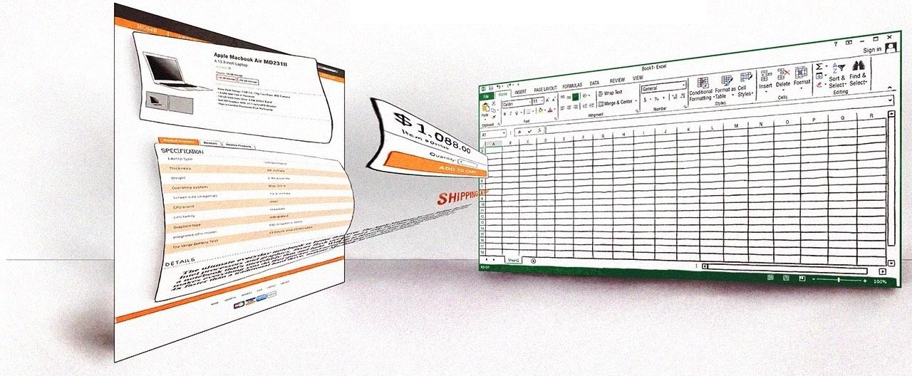 Estrarre dati da molte pagine web e inserirli in un Excel o una base dati: il web scraping.