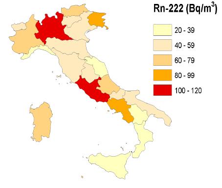 Mappa radon italiana