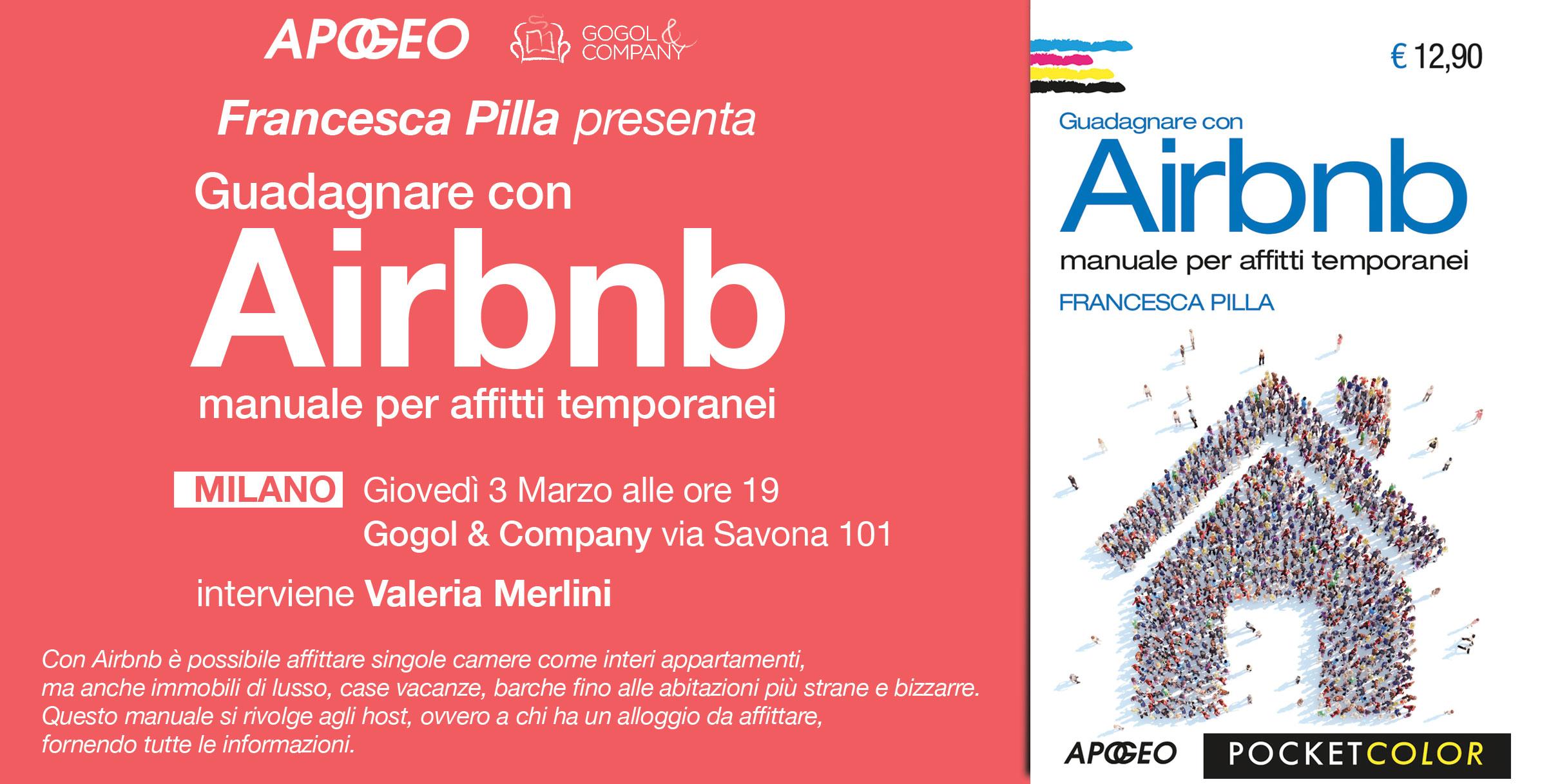 Invito alla presentazione del libro di Francesca Pilla su Airbnb