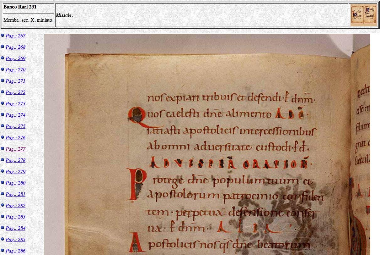 Messale Ottoniano alla Biblioteca Nazionale di Firenze