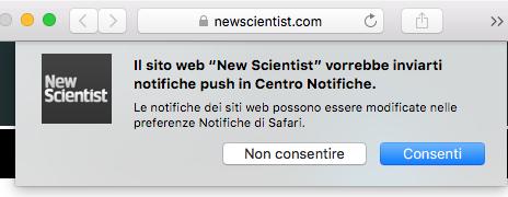 Notifiche di New Scientist
