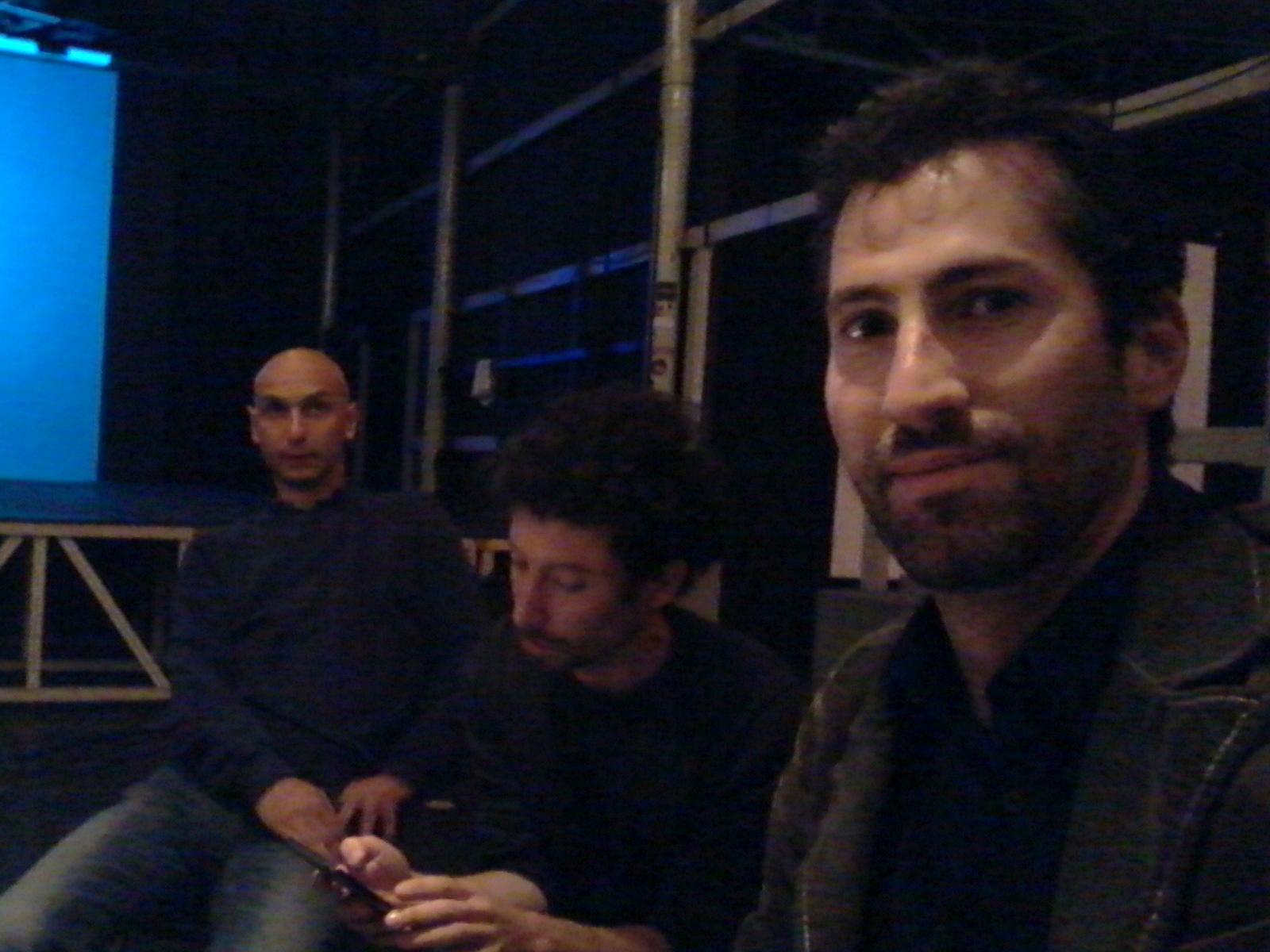 L'autore assieme agli altri protagonisti