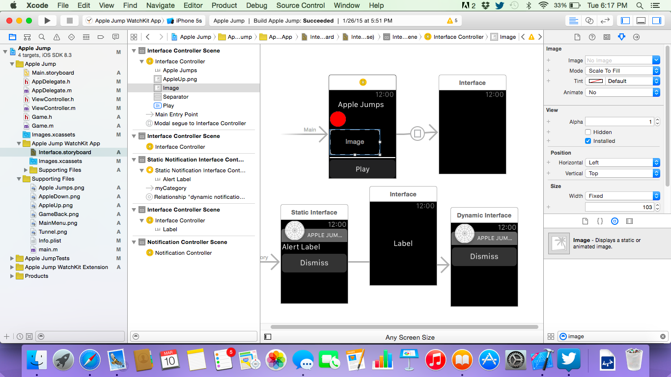 Storyboard per watchOS in Xcode