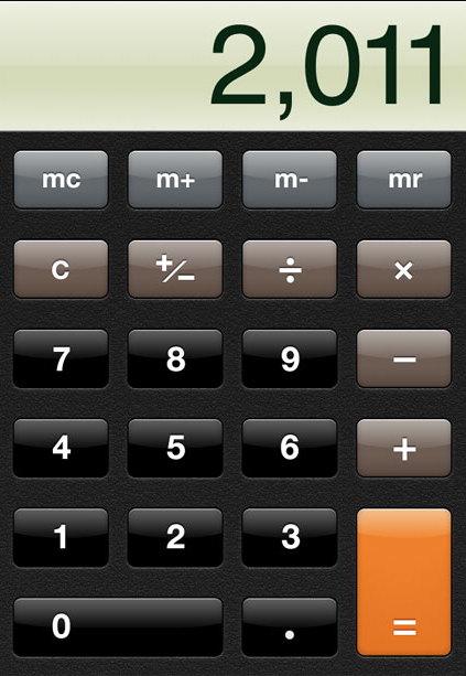 La calcolatrice del primo iPhone