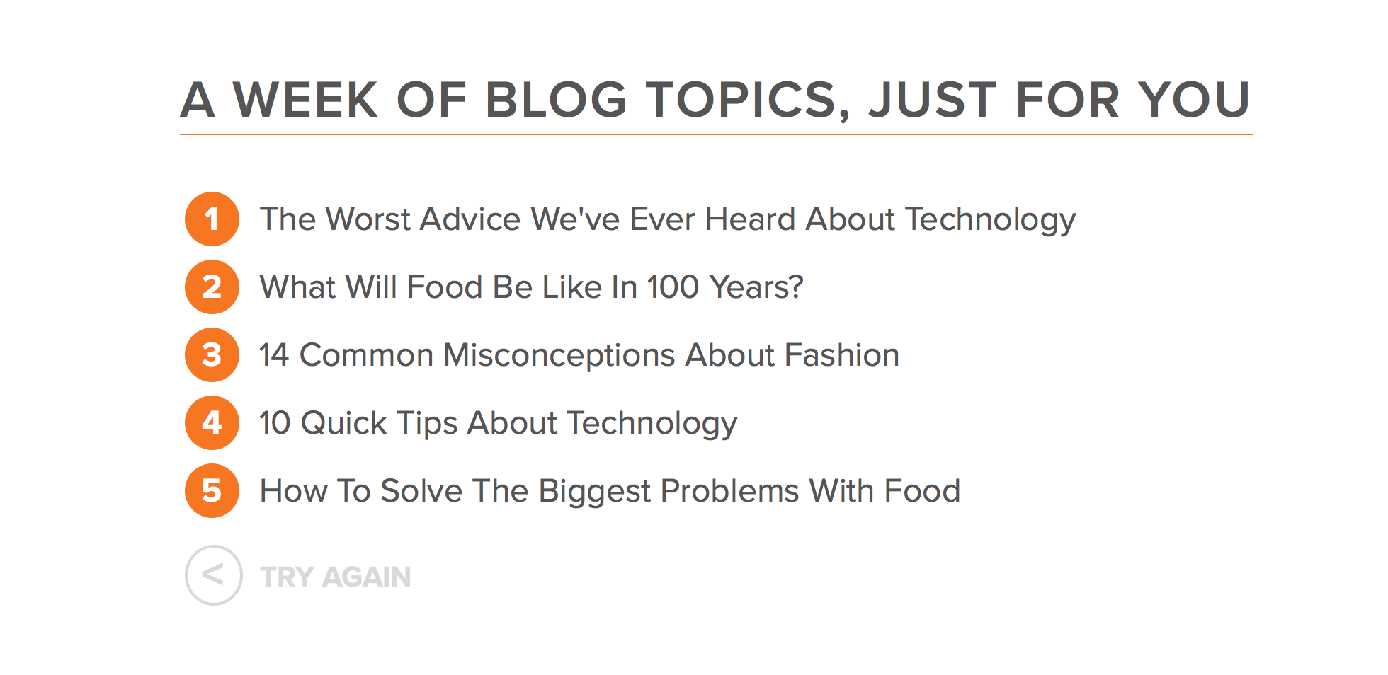 Blog Topic