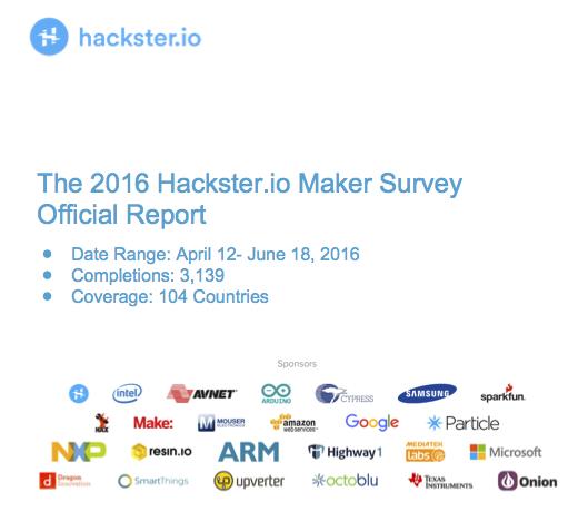 Hackster Maker Survey 2016