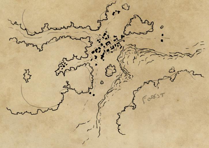 Mappa di un luogo immaginario