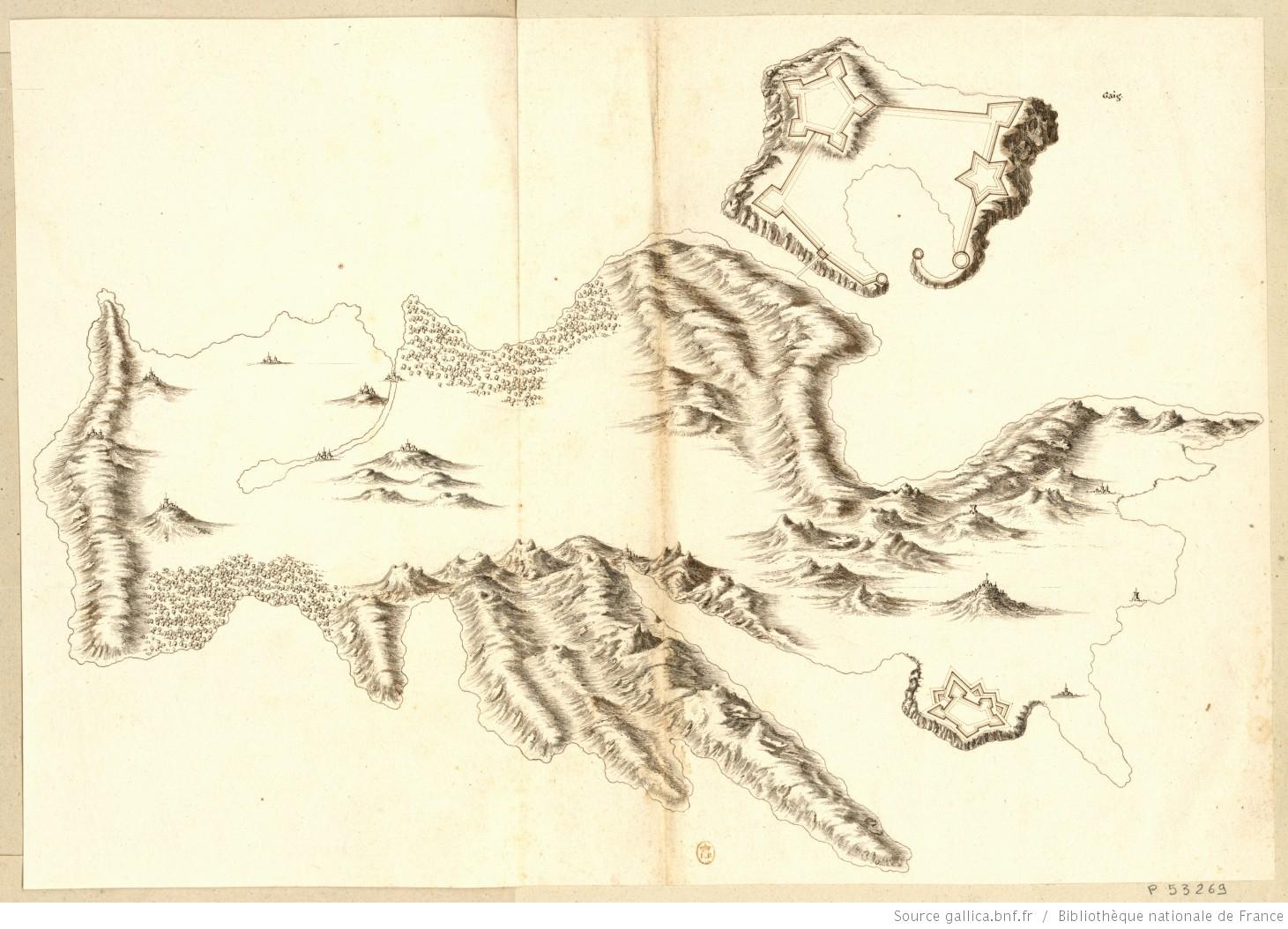Mappa napoleonica dell'isola d'Elba