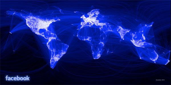 Mappa delle conversazioni su Facebook