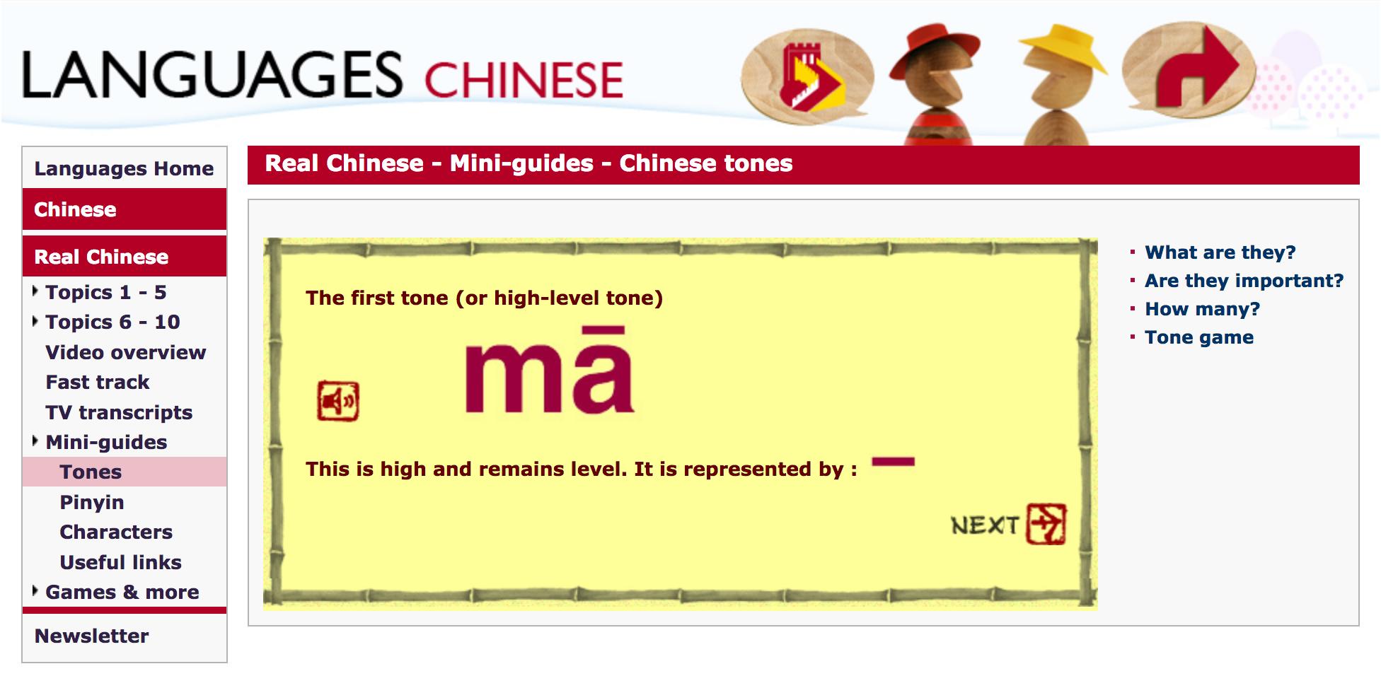 BBC per imparare i toni delle lingue