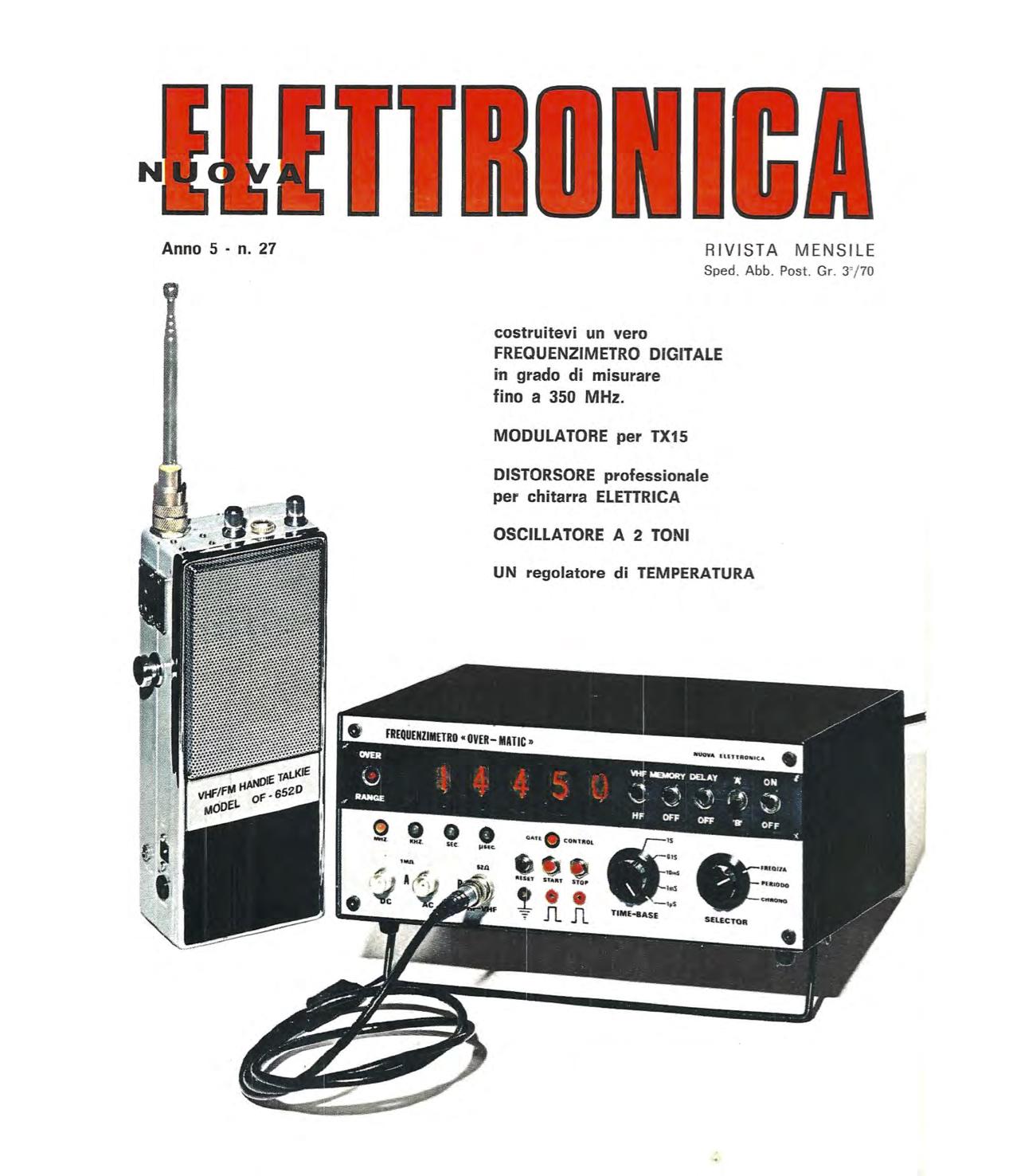 Copertina della rivista Nuova Elettronica