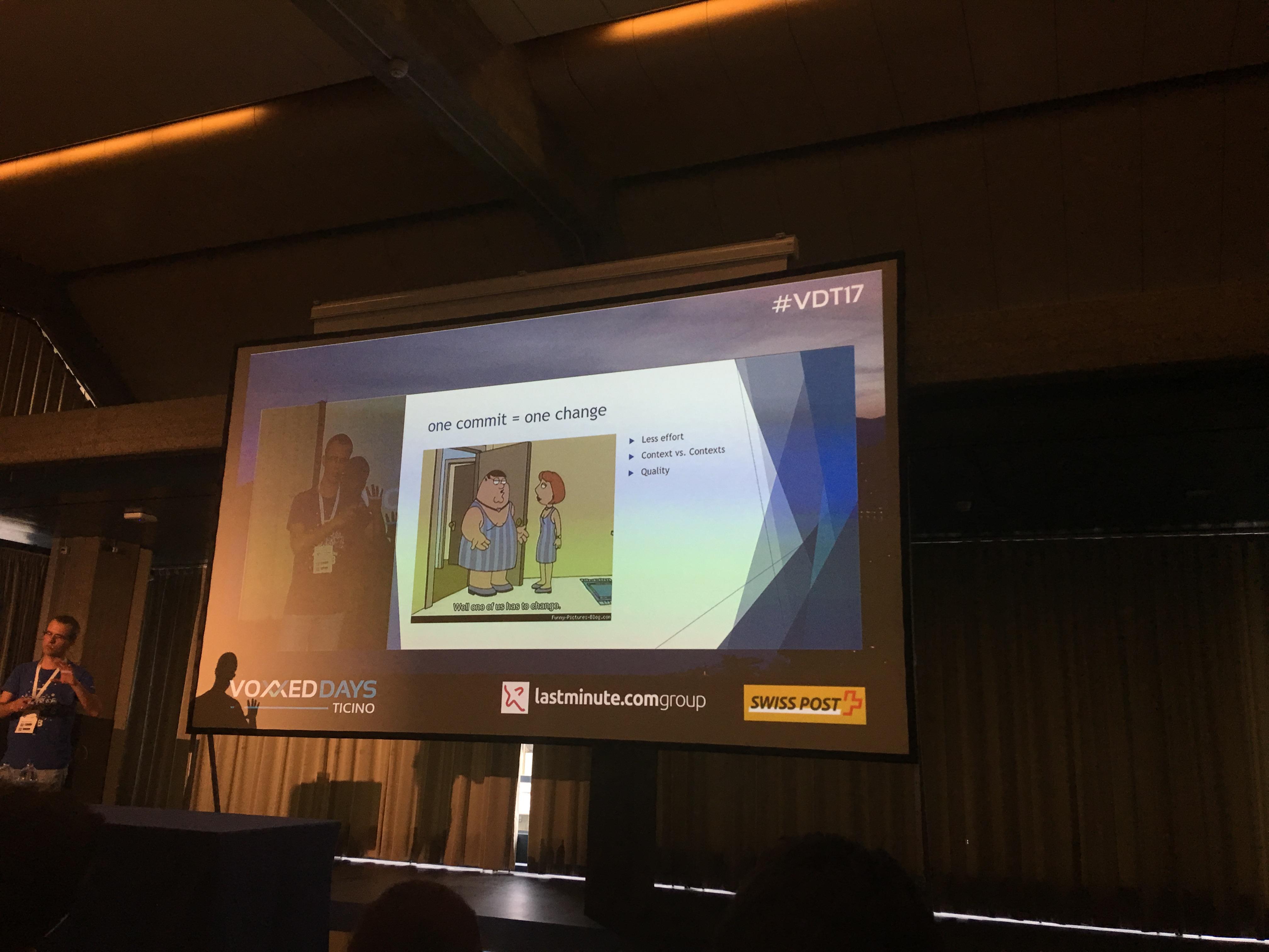 Slide da un talk da Voxxed Days Ticino 2017