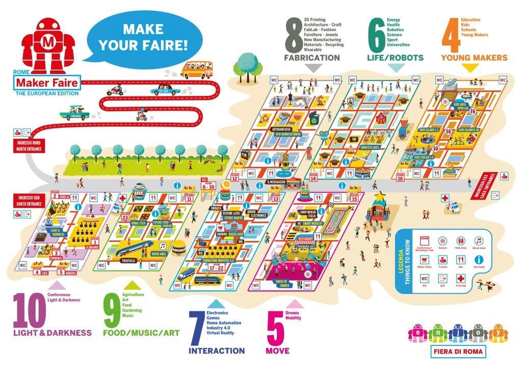 La mappa di Maker Faire Europe Roma 2017