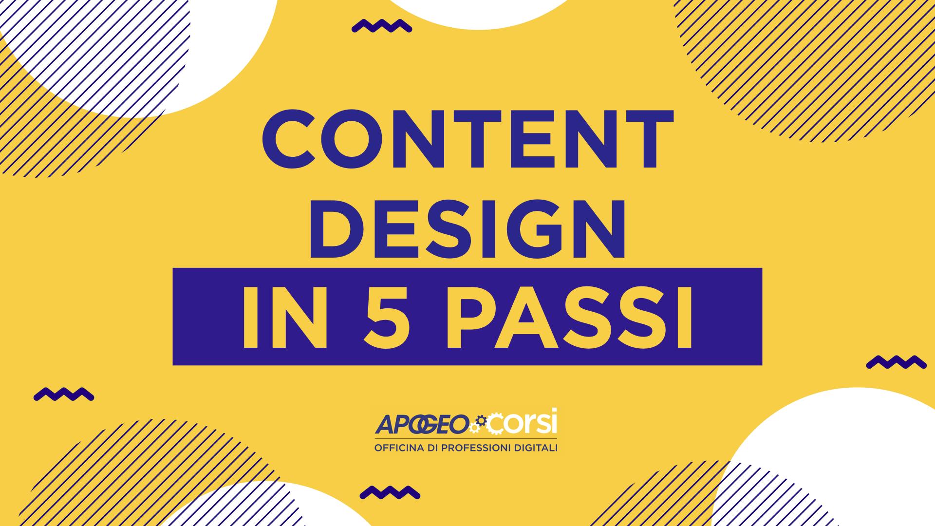 Content design in 5 passi