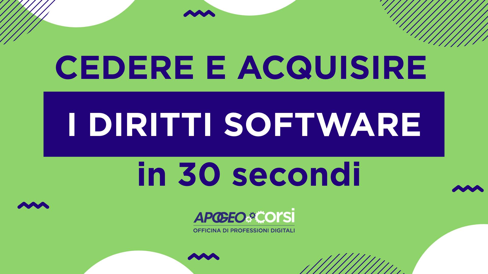 Cedere e acquisire software in 30 secondi