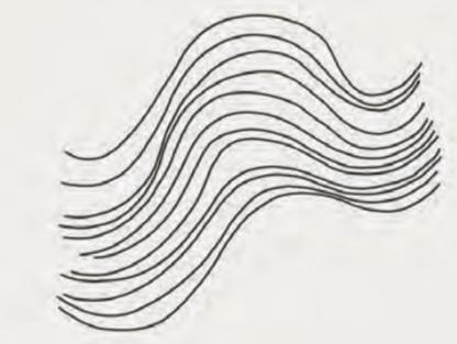 Un buon esercizio per il flusso delle linee è disegnare curve parallele